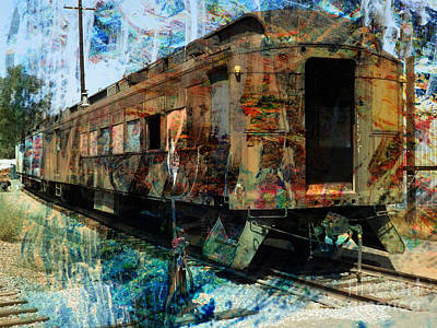 Train Cars Art Print by Robert Ball