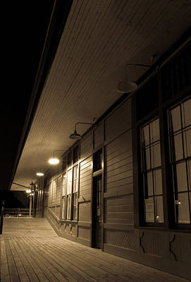 Photograph - Train Depot 2 by Dave Hall