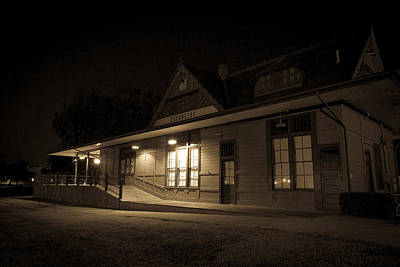 Photograph - Train Depot 3 by Dave Hall