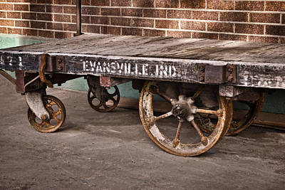 Photograph - Train Depot Baggage Cart 2td by Greg Jackson