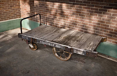 Photograph - Train Depot Baggage Cart 4tda by Greg Jackson