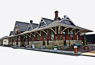 Recent Photograph - Train Depot In High Key by Marcia Colelli