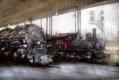 Savad Photograph - Train - Engine - 1218 - End Of The Line  by Mike Savad