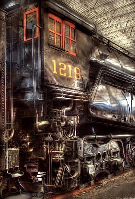 Train - Engine - 1218 - Norfolk Western - Class A - 1218 Art Print by Mike Savad