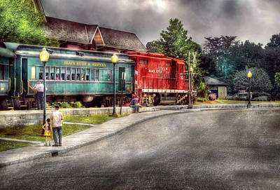 Train - Engine - Black River Western Art Print