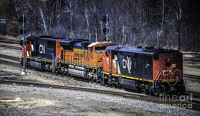 Photograph - Train Engines by Ronald Grogan