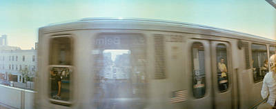 Railroad Station Photograph - Train Entering Into Station Platform by Panoramic Images