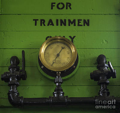 Photograph - Train Gage by Steven Parker
