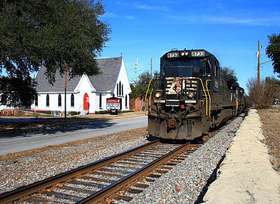Photograph - Train Goes To Church by Joseph C Hinson Photography