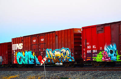 Photograph - Train Graffiti 2 by Brent Dolliver