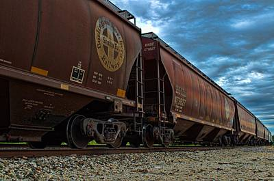 Photograph - Train Grain Container Cars by Tim McCullough