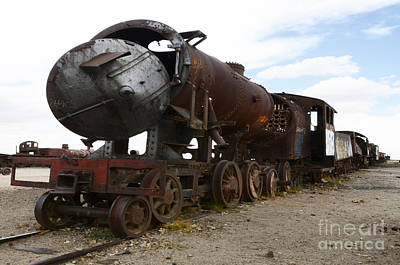 Photograph - Train Graveyard Uyuni Bolivia 4 by Bob Christopher