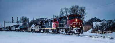 Photograph - Train Headed To Canada Thru Port Huron Tunnel by Ronald Grogan