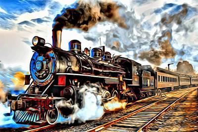 Digital Art - Train Series 02 by Carlos Diaz