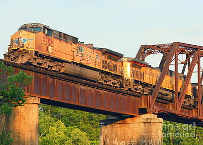 Cotter Photograph - Train In Arkansas Over White River by Nicky Dou