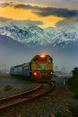 Train In New Zealand Art Print