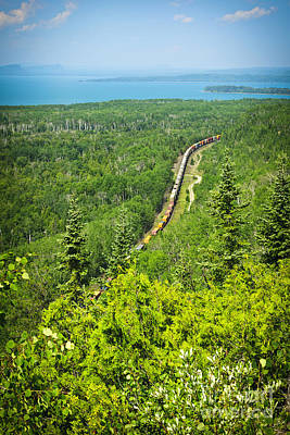 Lake Superior Wall Art - Photograph - Train In Northern Ontario by Elena Elisseeva