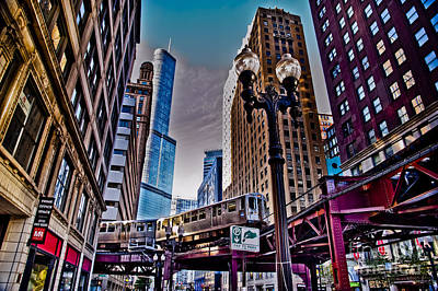 Photograph - Train In The Chicago Loop by Linda Matlow