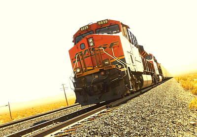 Woody Guthrie Painting - Train In The Desert by Dietmar Scherf