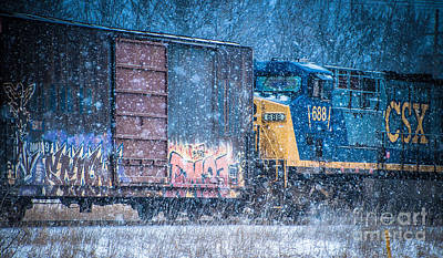 Photograph - Train In The Snow by Ronald Grogan