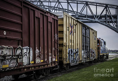 Photograph - Train Leaving Dunn Paper by Ronald Grogan