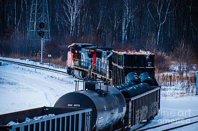 Photograph - Train Leaving The Train Yard by Ronald Grogan