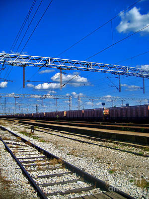 Photograph - Train Line by Nina Ficur Feenan