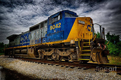 Photograph - Train Locomotive Hdr by Danny Hooks
