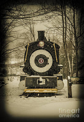 Photograph - Train Loon Mountain Lincoln New Hampshire by Glenn Gordon