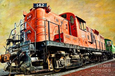 Photograph - Train - Mkt 142 - Rs3m Emd Repowered Alco by Liane Wright