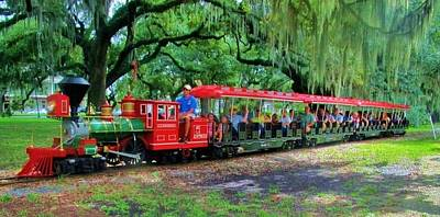 Photograph - Train - New Orleans City Park by Deborah Lacoste