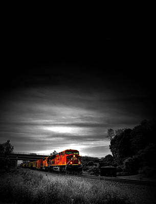 Photograph - Train Of Dusk by Emily Stauring
