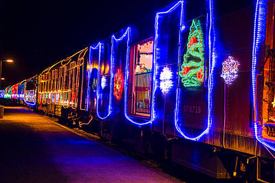 Niles Canyon Railway Photograph - Train Of Lights by Garry Gay
