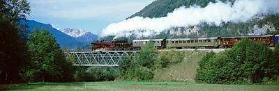 Train On A Bridge, Bohinjska Bistrica Art Print