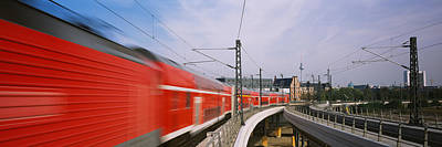 Berlin Photograph - Train On Railroad Tracks, Central by Panoramic Images