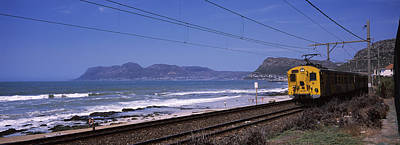 False Motion Photograph - Train On Railroad Tracks, False Bay by Panoramic Images