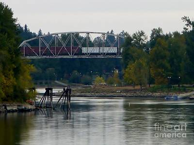 Photograph - Train On Trestle Oregon by Susan Garren