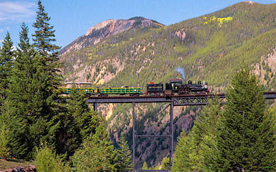 Photograph - Train Over The Trestle by John M Bailey