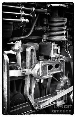 Train Pistons Art Print by John Rizzuto