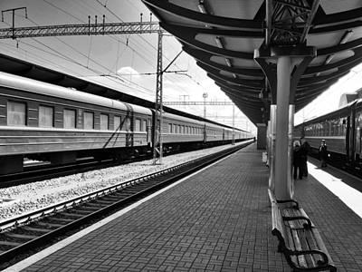 Photograph - Train Platform by Dave Hall