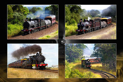 Photograph - Train Poster 01 by Kevin Chippindall