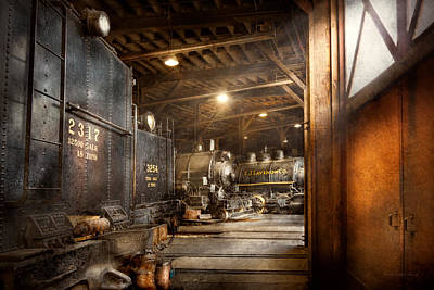 Photograph - Train - Ready In The Roundhouse by Mike Savad