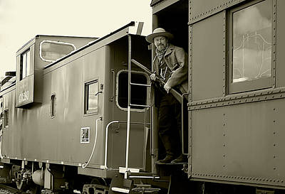 Aged Photograph - Train Robber by Marcia Colelli