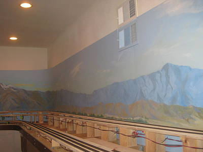 Desert Scape Painting - Train Room Before   by Maria Hunt