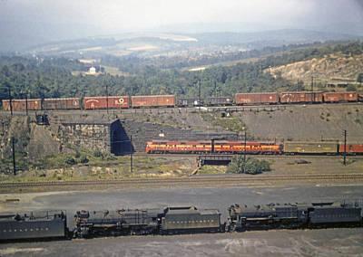 Photograph - Train Set by John Dziobko