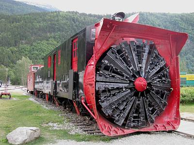 Bi-cycle Photograph - Train Snowplow by Steven Parker