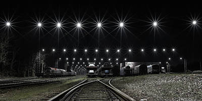 Railroad Station Photograph - Train Stars by Leif L?ndal
