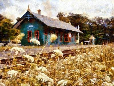 Photograph - Train Station - Cresco Train Station Museum by Janine Riley