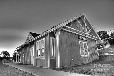 Lake Station Photograph - Train Station In Beulah by Twenty Two North Photography