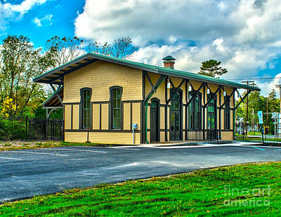 Photograph - Train Station In Glassboro by Nick Zelinsky
